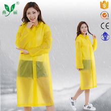 plastic waterproof ponchos rain coat/plastic bicycle raincoats