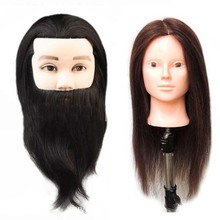 Cheap hairdresser hair model 100% human hair training doll head with remy hair