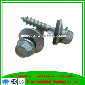 Wholesale Hex Flange Head Self Tapping Screw With EPDM Bonded Washer,Blue Zinc Plated