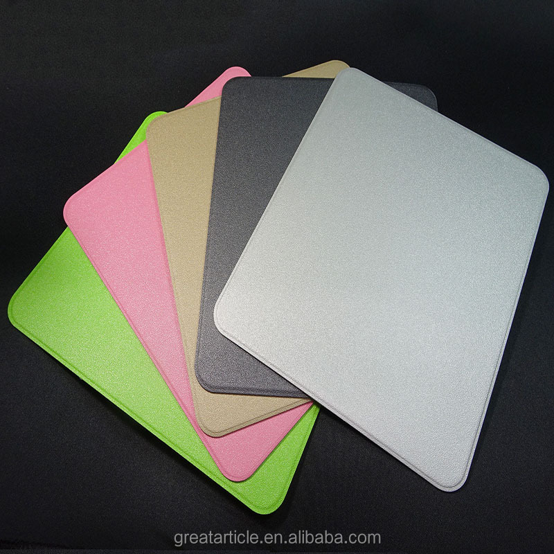 Customized PU Leather Hard Mouse Pads with PC Plastic and PU Non-Slip Underside Mouse Mats Computer Accessories
