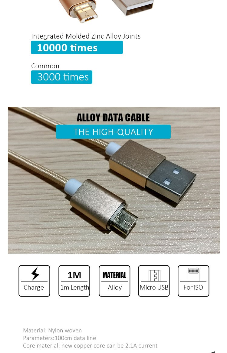 Wholesale Zinc Alloy Nylon Braided Smart Mobile Phone Accessories Fast Charging Mini Portable Data Magnetic USB Cable For iPhone