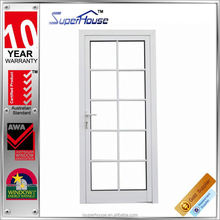 New zealand kitchen swing open style glass aluminum french doors