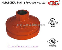 FM /UL Approved Threaded Concentric Reducer Grooved Pipe Fittings Ductile Iron Pipe Reducing Fitting