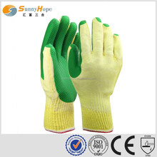 knitted construction green Latex utility gloves
