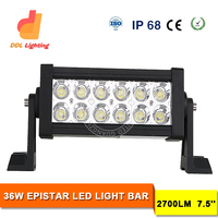 36W 7.5inch double row led light bulbs 4x4 accessory off road led light bar