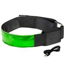 Wholesale Led Wristband Safety Night Sports Usb Rechargeable Led Flashing Armband