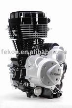 Motorcycle engine--Jinba-Middl Black edge white(L)