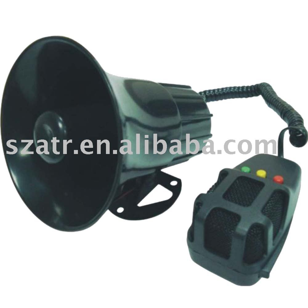 Alarm sirens 3 sound horn with microphone