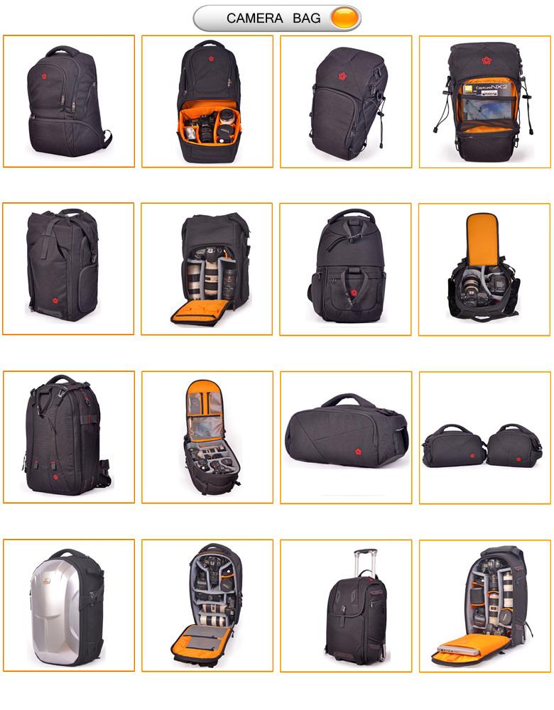 Waterproof Dslr Camera Bag Rolling Backpack Trolley Bag