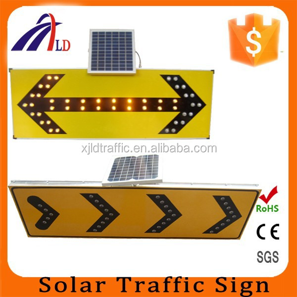 road safety TS-S directional solar led warning sign