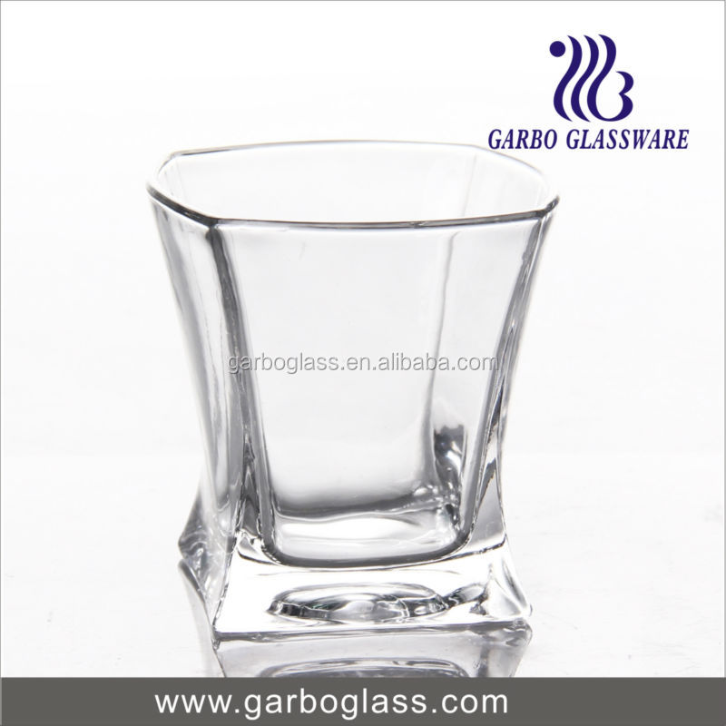 Middle East hot sell whisky glass/whiskey tumbler , square whisky glass new fashion for bar , NEW fashion whisky glass
