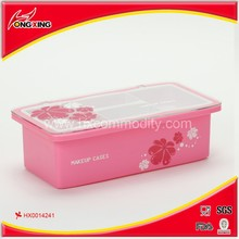 Elegant design plastic pink dressing case for ladies