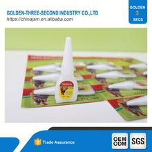 Resistance to high temperature Quick Curing Repair 502 Cyanoacrylate Adhesive Rubber Glue
