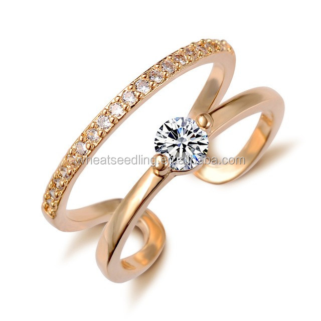 Bijouterie open rings saudi jewelry designs women simple gold finger ring