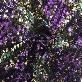 Fashion cloth sequins multicolor fabric