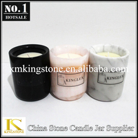 votive candles in marble candle jars, candle in a jar