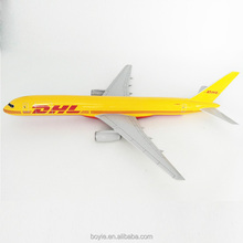 Customized resin crafts 1/100 46CM big scale handmade diecast aeroplane dhl plane model for display