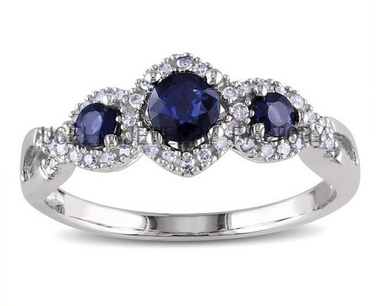 factory price blue ruby stone ring silver ring stone ring
