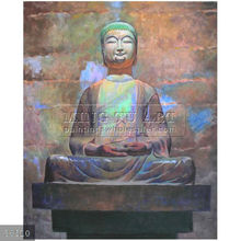 Handmade Modern abstract thai buddha painting,oils on canvas, Holy Buddism Canvas Wall Art(8)