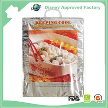 Wholesale portable plastic insulated thermal roast chicken delivery bags