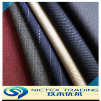 China supplier blended red black dark blue yellow grey color terylene wool suit fabrics
