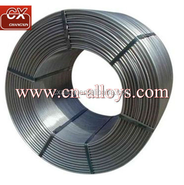 China good price aluminum flux welding silicon calcium cored wire casi wire for steelmaking