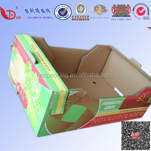 Beautiful colorful printing corrugated cardboard fruit packaging shipping tray