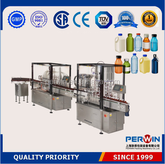 Full automatic bottle mouthwash capping filling machine