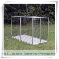 Galvanized welded wire dog cages