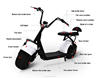 trade assurance hot sale citycoco 2016 newest 2000w electric scooter