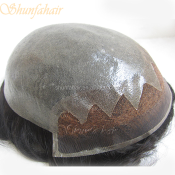 Hot sale thin skin toupee,super thin skin mens toupee,injected skin toupee