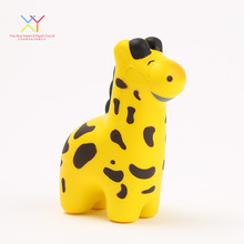 Custom animal promotional toy cheap funny pu foam giraffe stress ball for kids
