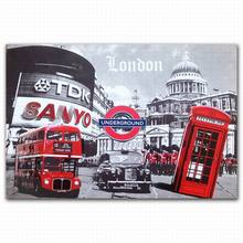 FZDEYI London scene creative canvas art prints with glitter