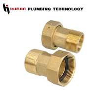 JH1334 union for water meter brass water meter coupling
