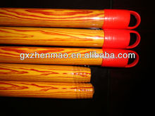 Popular Wood Broom Stick with Plastic Coating Spraying Paint