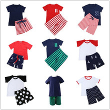 2018 new arrival baby boys summer clothes set kids cotton clothes boys fashion handsome little boys clothing