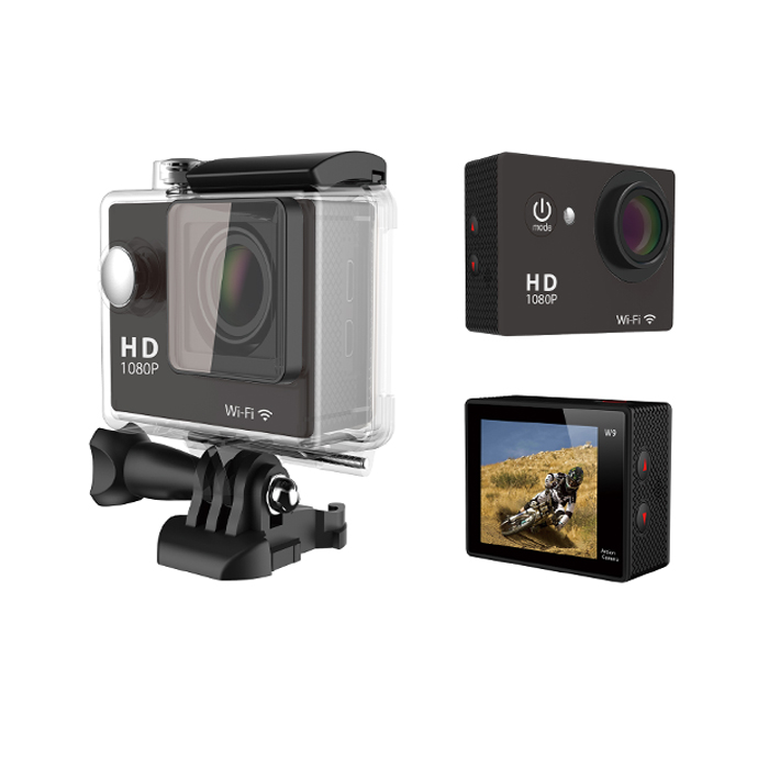 Ultra HD 4K action camara SPORTS CAM 170 degree wide Angle W9 H9 H8R Sports Camera 2-inch dual Screen 1080p