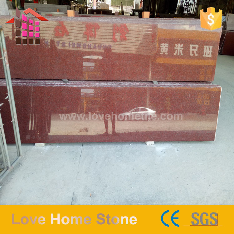 latest natural best price marble china red granite slabs for stairs step and riser