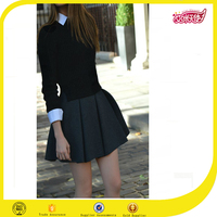 2016 hot sale latest dress designs pictures girls sexy night dress photos school uniform short skirt