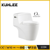 Ceramic sanitary ware WC toilet floor mounting one piece toilet KL1334