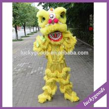LWL008 latest design yellow chinese lion costume for adult or children