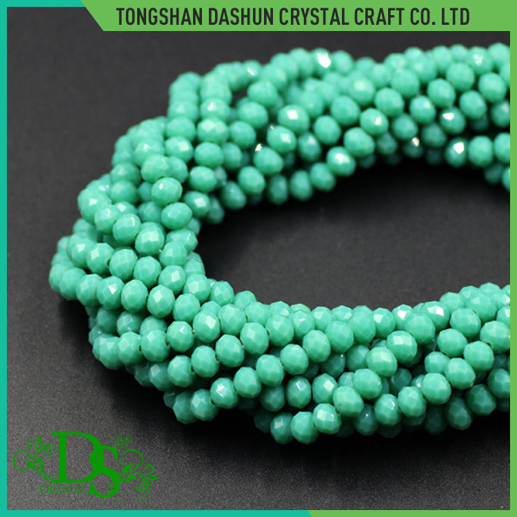 Yiwu crystal imitation jade beads rondelle glass beads manufacturers