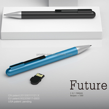 Popular buena calidad innovador smart patente de color de metal usb pen usb bolígrafo