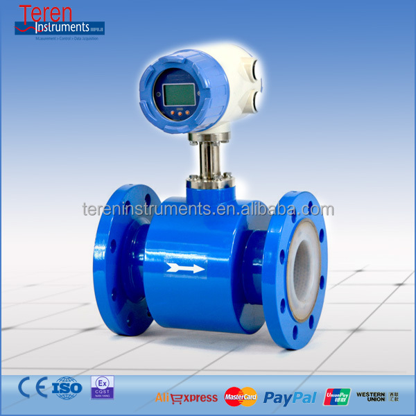 Low price Intelligent Electromagnetic flowmeter for Food Industrial usage