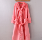 high quality china hot sale soft 100% polyester wholesale women bathrobe