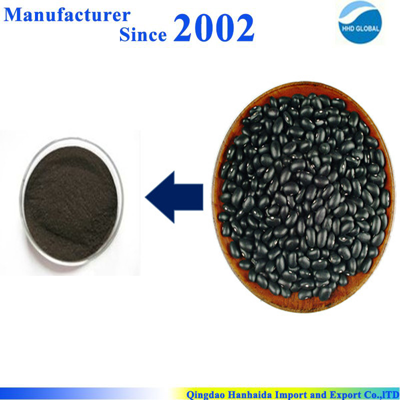 Hot selling high quality 100% nature Black Soybean Hull Extract , black soybean hull powder extract , Black Soybean Hull P.E.