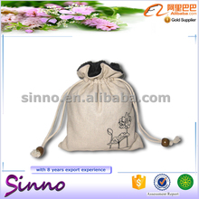 mini small linen drawstring gift bag shopping bag as gift pouch
