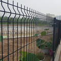 Curved Wire mesh fence
