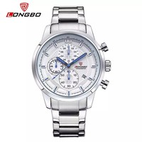 Supply real chronograph Japan movement men stainless steel watch with quartz chrono movement