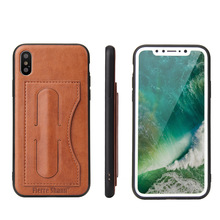 New Arrivals Custom Design PU Leather Mobile Phone Kickstand Case for iphone 8 7